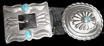 Navajo Silver Concho Belt 10b
