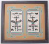 """Picture of Navajo Double Sand Painting  """"Female Yei be Cheis"""" by Navajo artist Rosabelle Ben"""